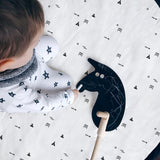 Large Padded Play Mat by Tinyppl | Black and White