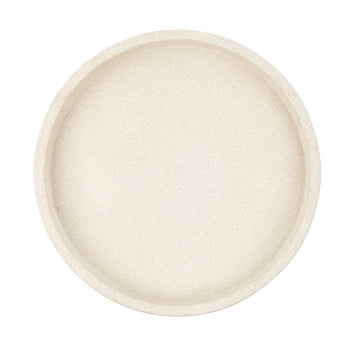 Round Concrete Tray | White