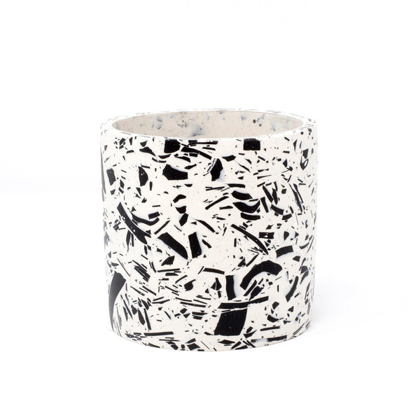 Medium Terrazzo Pot | Jesmonite | White