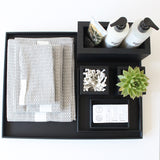 Large Rectangular Serving Tray | Rubber | Black
