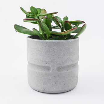 Short Round Pot | Jesmonite | Grey