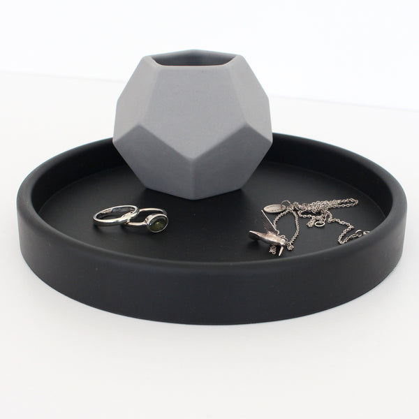 Small Round Tray | Rubber | Black