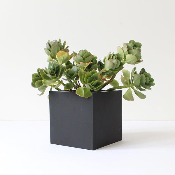 Small Square Pot | Rubber | Black