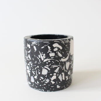 Mini Terrazzo Pot | Jesmonite | Black