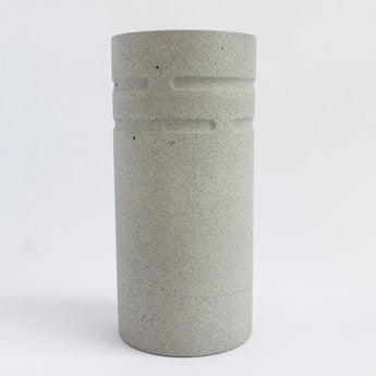 Tall Round Vase | Jesmonite | Grey