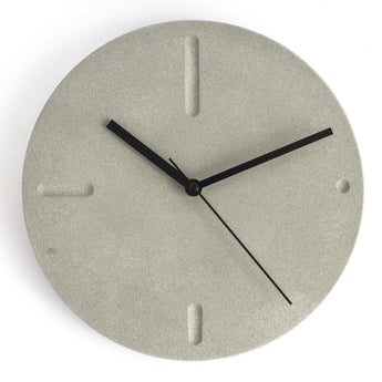 Minimal Wall Clock | Jesmonite | Grey
