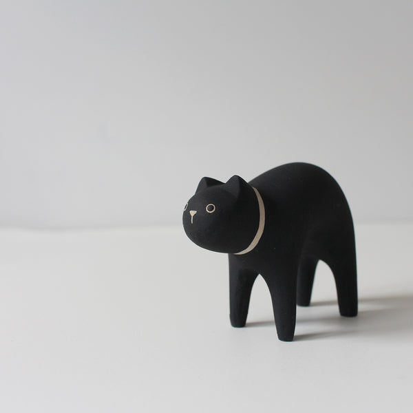Wooden Animals by T-Lab Japan | Black Cat