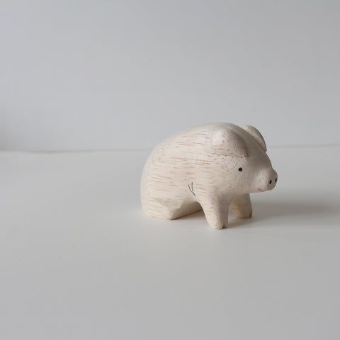 Wooden Animals by T-Lab Japan | Pig