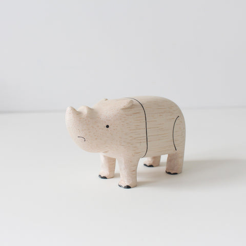 Wooden Animals by T-Lab Japan | Rhino