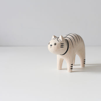 Wooden Animals by T-Lab Japan | Striped Cat