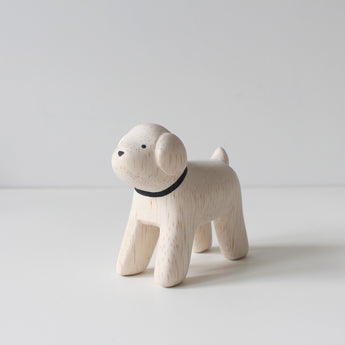 Wooden Animals by T-Lab Japan | Dog - Toy Poodle