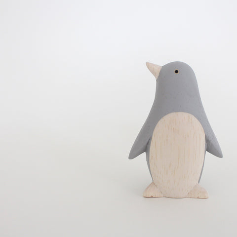 Wooden Animals by T-Lab Japan | Grey Penguin