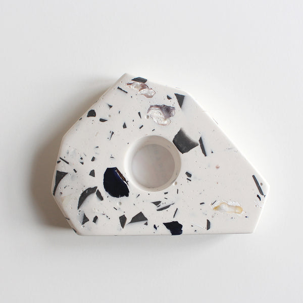 Taper Candle Holder | Recycled Shell Terrazzo