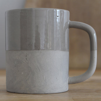 Handmade Two-Tone Ceramic Mug | Grey