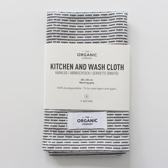 Organic Cotton Wash Cloth | Morning (Light) Grey