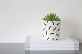 Ceramic 'Speckle' Pot | Small | Black and White