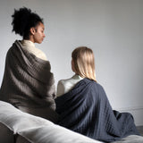 Soft 6-Layer Blanket / Throw | Organic Cotton | Dark Grey