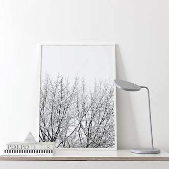 Print | 'Snowy Tree' by Coco Lapine | Black and White