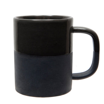 Handmade Two-Tone Ceramic Mug | Black