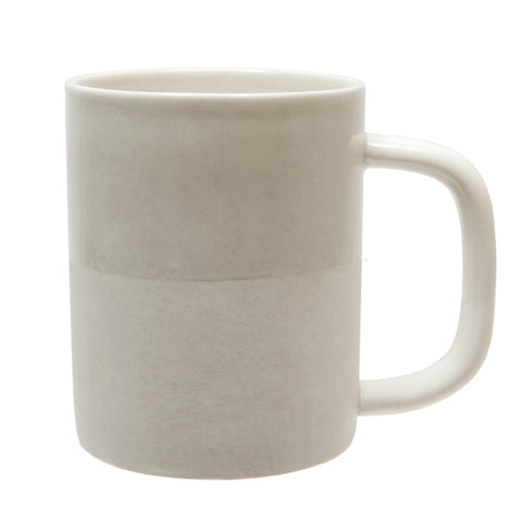 Handmade Two-Tone Ceramic Mug | White