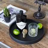 Large Round Tray | Rubber | Black