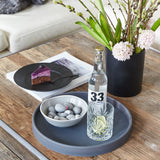 Round Serving Tray | Rubber | Grey