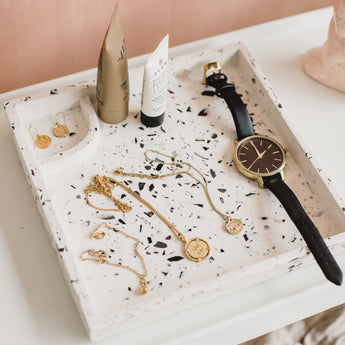 Square Vanity Tray | Recycled Shell Terrazzo