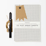 Luxury Gift Wrap Set | Mini Polka Dot | Black and White