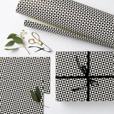 Luxury Gift Wrap Set | Pyramid | Black and White