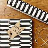 Luxury Gift Wrap Set | Chevron | Black and White