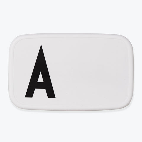 Initial Lunch Boxes A-Z | Black and White