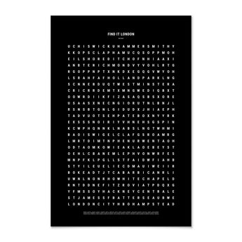 Print | 'Find It: London' Word Search | Black and White