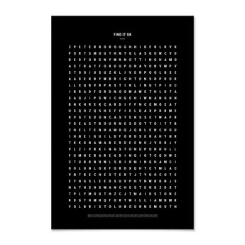Print | 'Find It: UK' Word Search | Black and White