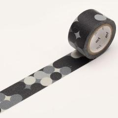 MT Washi Tape | 'Fab' Blackboard Dot | Black and Grey