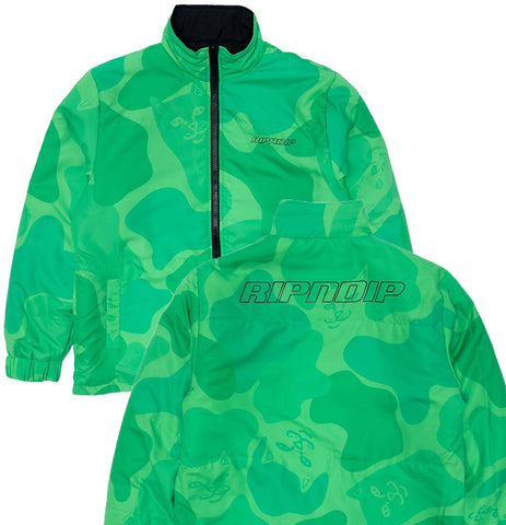 RIPNDIP - Neo Nerm Reversible Field Puffer Jacket (Black/Green) - Plazashop