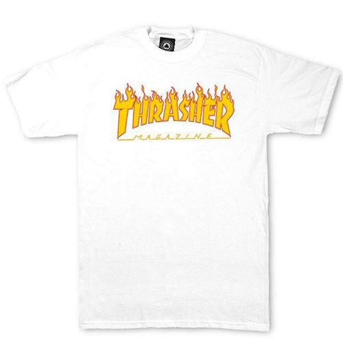 Thrasher - Flame Logo Tee (White) - Plazashop