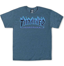 Thrasher - Flame Logo Tee (Dark Heather) - Plazashop