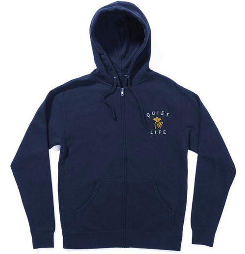 Quiet Life - Classic Shhh Zip Hood (Navy) - Plazashop