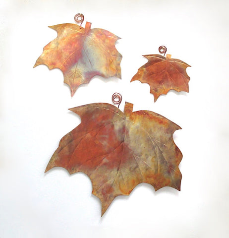Copper Maple Leaves Wall Hangings