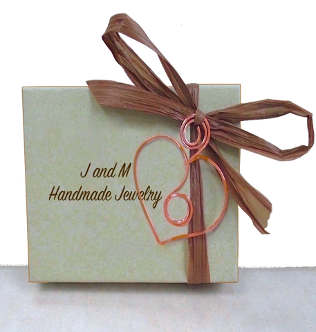 J and M Handmade Jewelry Tan Presentation Box