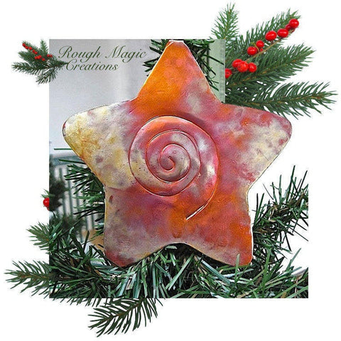 Shooting Star Copper Christmas Tree Topper