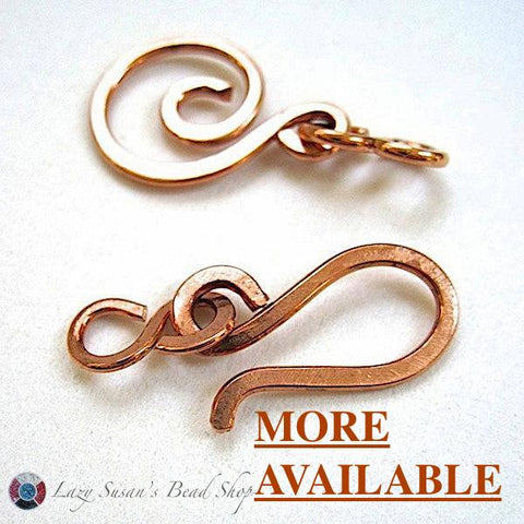 Solid Copper Hook and Eye Clasp