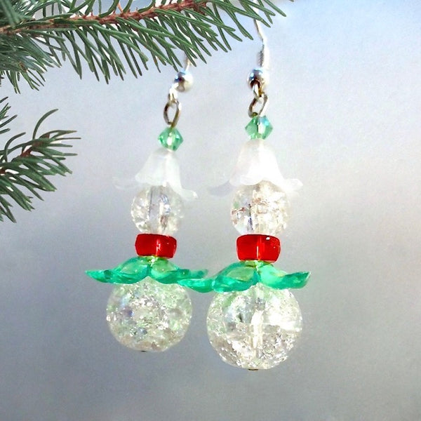 Ice Elf Fantasy Christmas Earrings