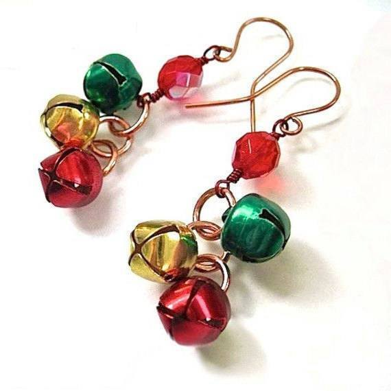 Jingle Bells Earrings Merry Christmas Jewelry