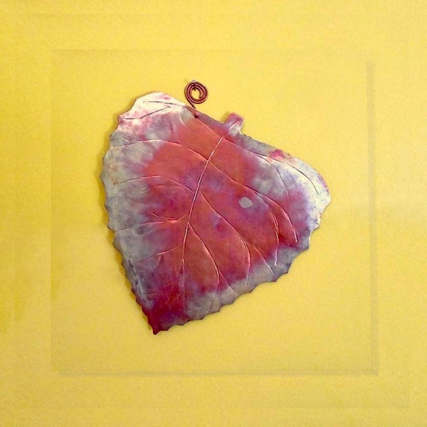 Copper Wall Hanging Fall Birch Leaf Wall Hanging, Autumn Leaves Home Decor