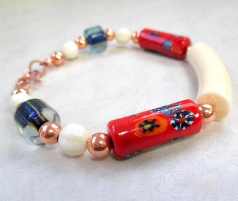 Red White and Blue MultiColor Bracelet