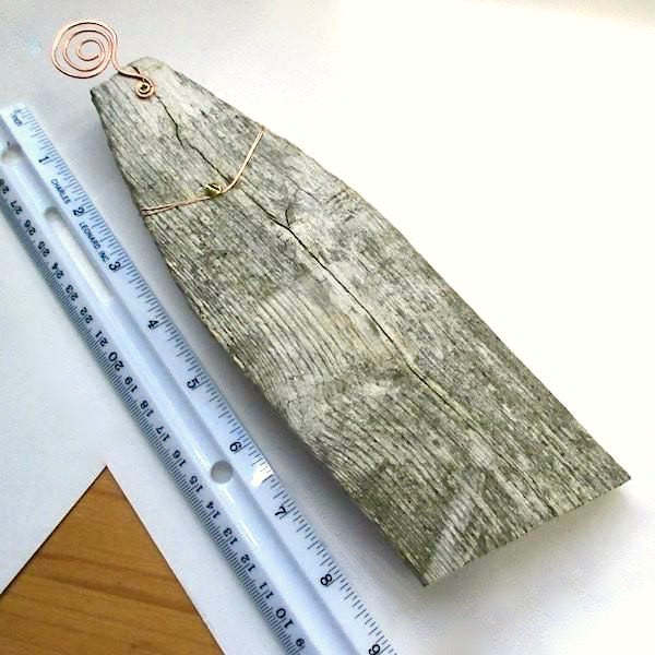 Weathered Wood Wall Hanging Recycled Picket Fence