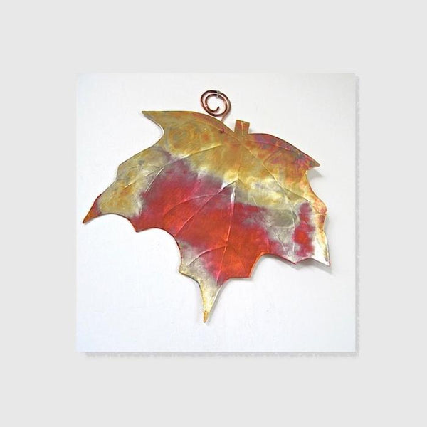 Copper Home Decor Metalwork Maple Leaf Small Wall Hanging