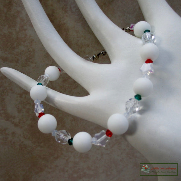 Stars, Ice and Snowballs Christmas & Holiday Bracelet
