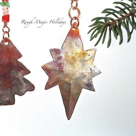 Copper Star of Bethlehem Christmas Holiday Bookmark